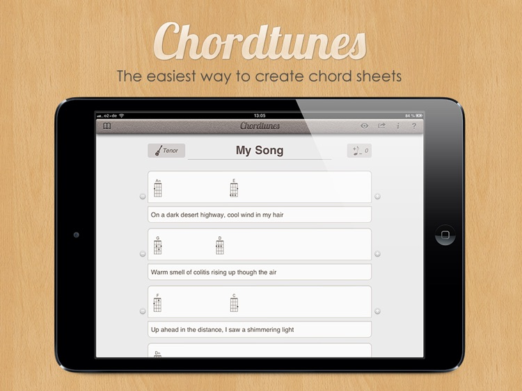 Chordtunes -  Chord Sheet Creator screenshot-0