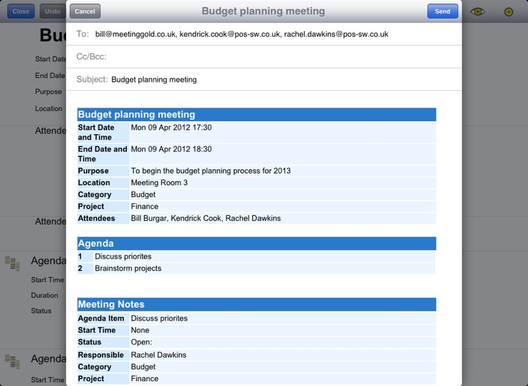 Meeting Gold - Ultimate meeting note taking and action tracking. screenshot-3
