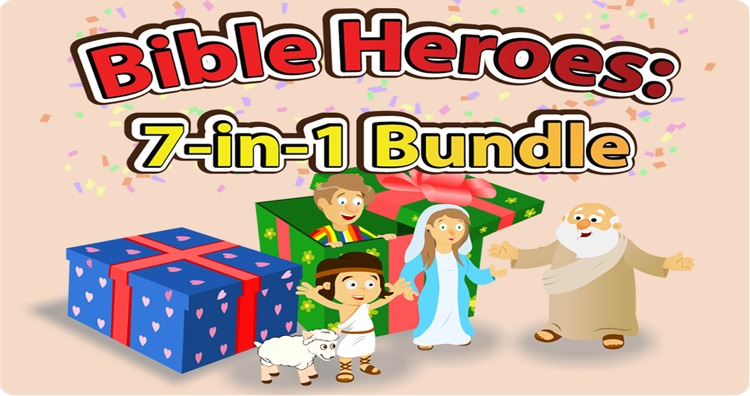 Bible Heroes: 7-in-1 Bundle of Bible Stories, Games, and Coloring for Kids