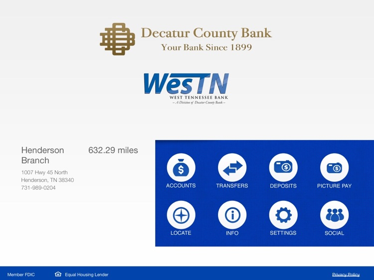 Decatur County Bank for iPad