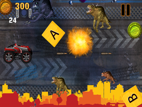 Abaiser Monster Trucks Vs Zombies: Words War Racing Game-ipad-2