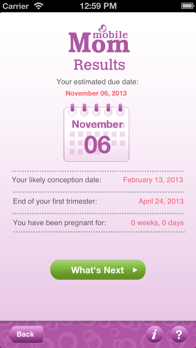 Pregnancy Due Date Calculator - My Baby Wheel & Countdown Birth Calendar Screenshot