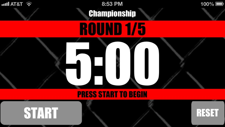 MMA Timer Lite - Free Mixed Martial Arts Round Interval Timer screenshot-3