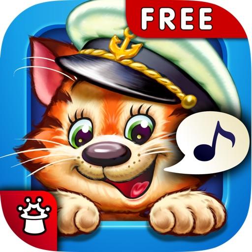 Котёнок-Моряк. Счет от 1 до 5 — обучающая песенка-игра с анимацией и караоке. FREE