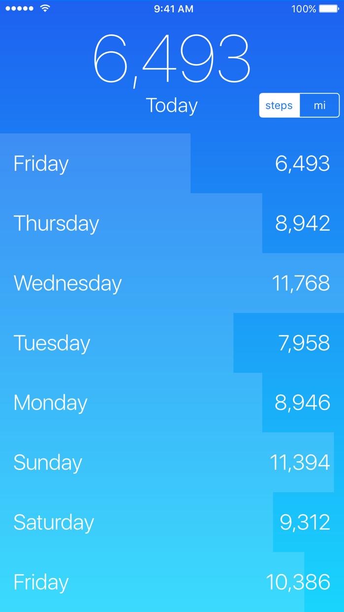 Steps – Step Counter, Pedometer, Activity Tracker Screenshot