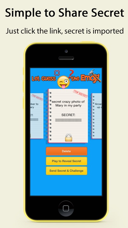 Secret.Emoji - Share Secret with Guess Emoji Game screenshot-3