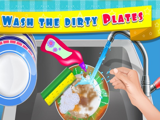 Kids Dish Washing and Cleaning Game - Free Fun Kitchen Games for Girls,Kids and Boys-ipad-1