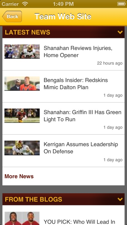 Redskins Fan Static screenshot-3