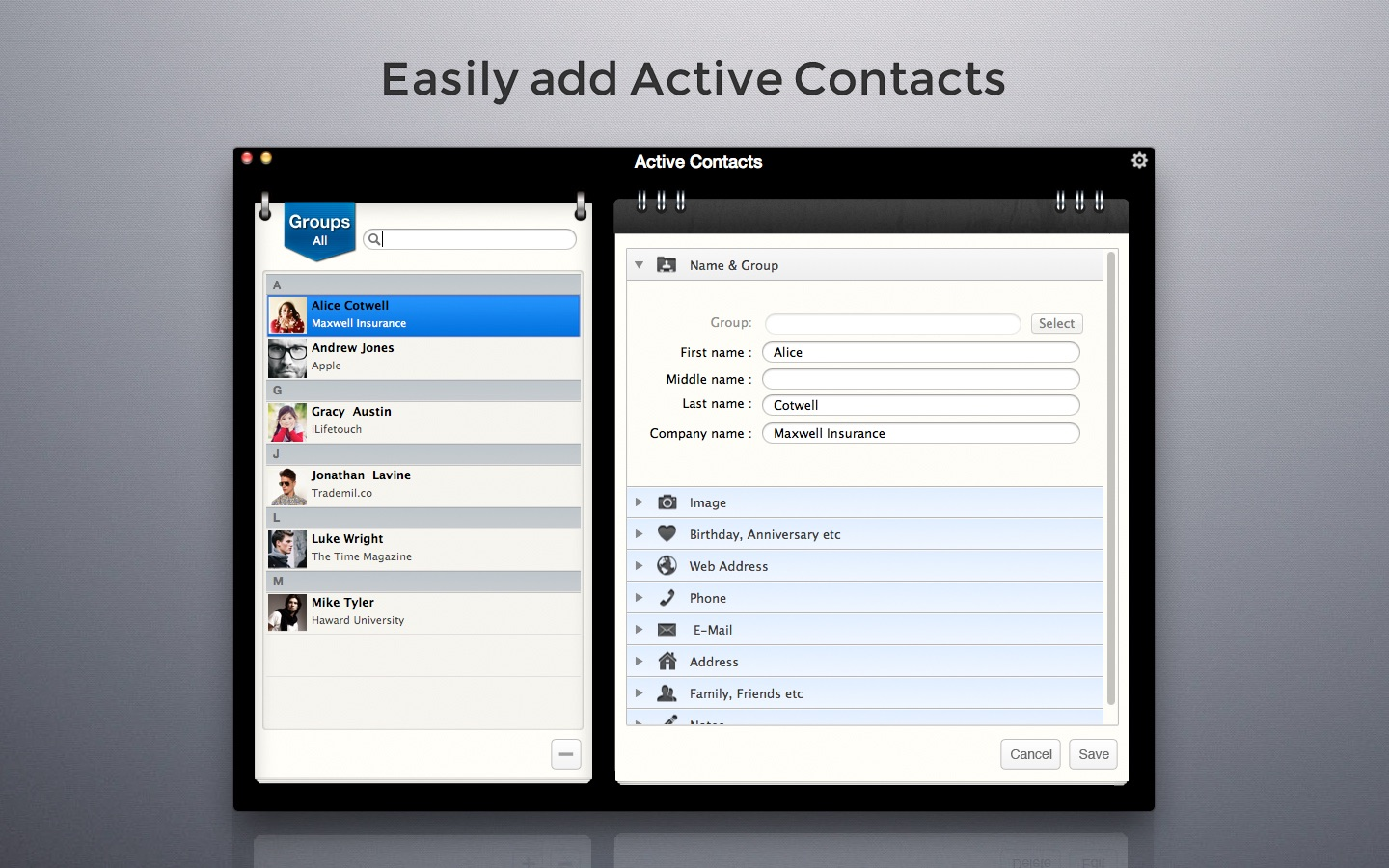 Active Contacts