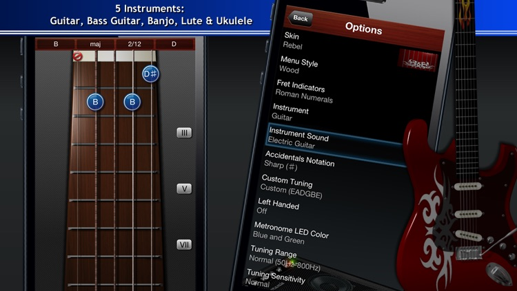 Guitar Suite - Metronome, Tuner, and Chords Library for Guitar, Bass, Ukulele screenshot-4