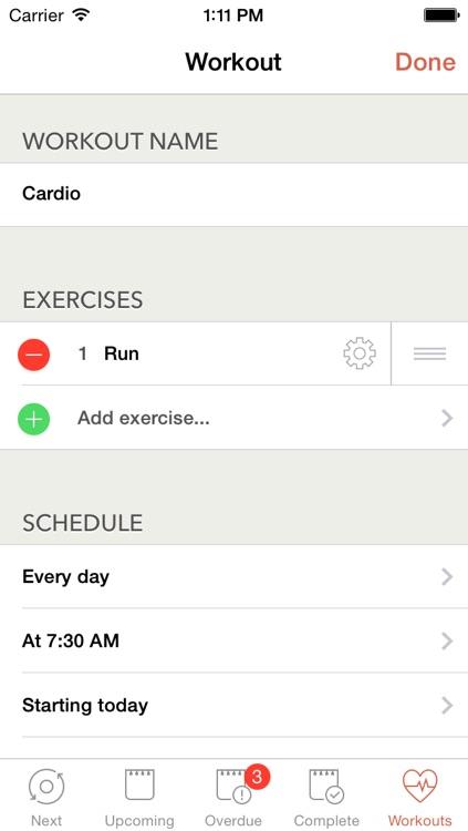 Workout Plan - Fitness Schedule & Journal screenshot-4