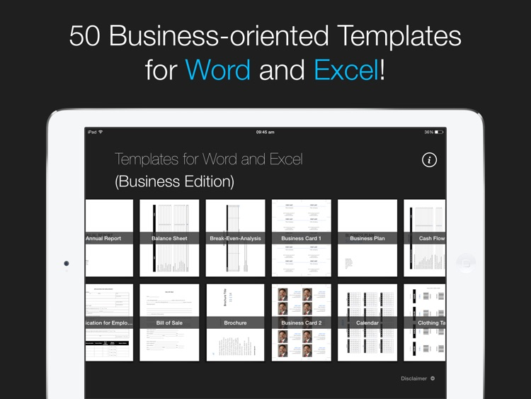 Templates for Word and Excel (Business Edition)