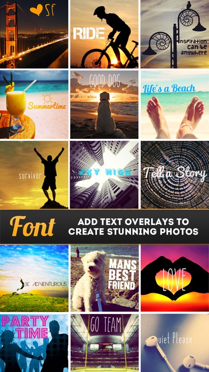 Font - Text Overlay for Photos