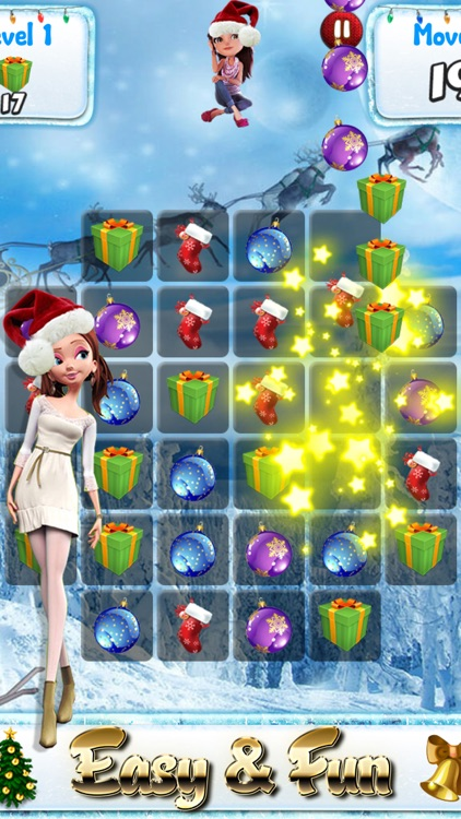 Santa Games and Puzzles - Swipe yummy candy to make it collect jewels for Christmas! screenshot-3