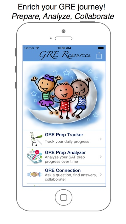 GRE Resource - Ace the GRE through study reminder, prep tracker and a pre packaged set of math, vocab, English, reading and essay topics