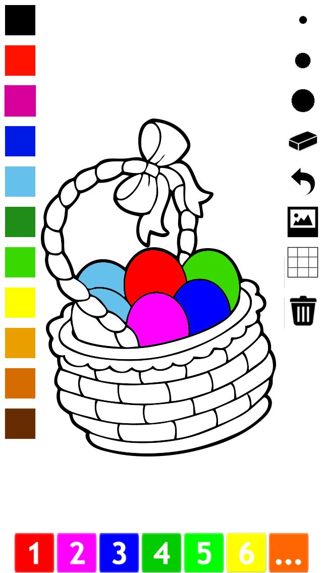 活躍 圖畫書 復活節兒童的:用多張圖片喜歡雞蛋花,兔子,兔子,籃子等等。遊戲學習:如何畫一幅畫屏幕截圖2