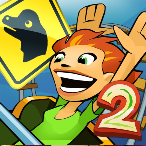 Jurassic 3D Rollercoaster Rush 2 icon