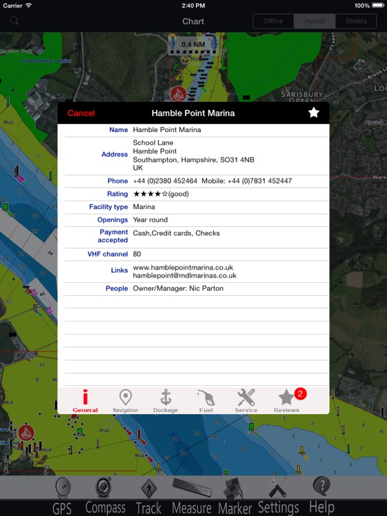 England GPS Nautical Chart Pro screenshot-1
