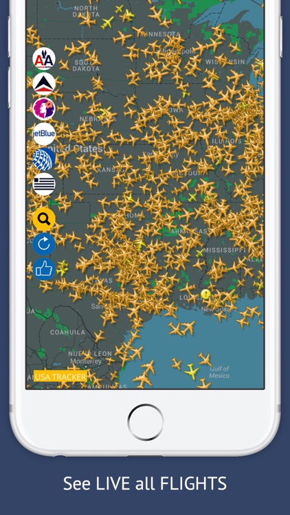 USA Tracker Free : Live Flight Tracking & Status screenshot-0