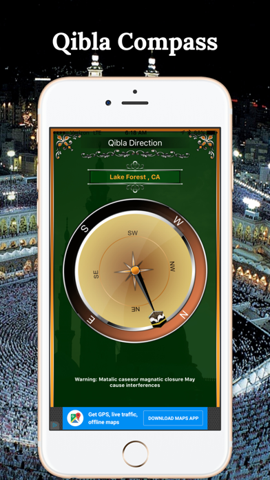 Qibla Compass-Free Direction screenshot four