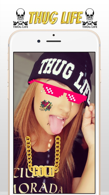 Thug Life Photo Sticker Maker - Photo Editor with ThugLife Stickers & Tattoo screenshot-3