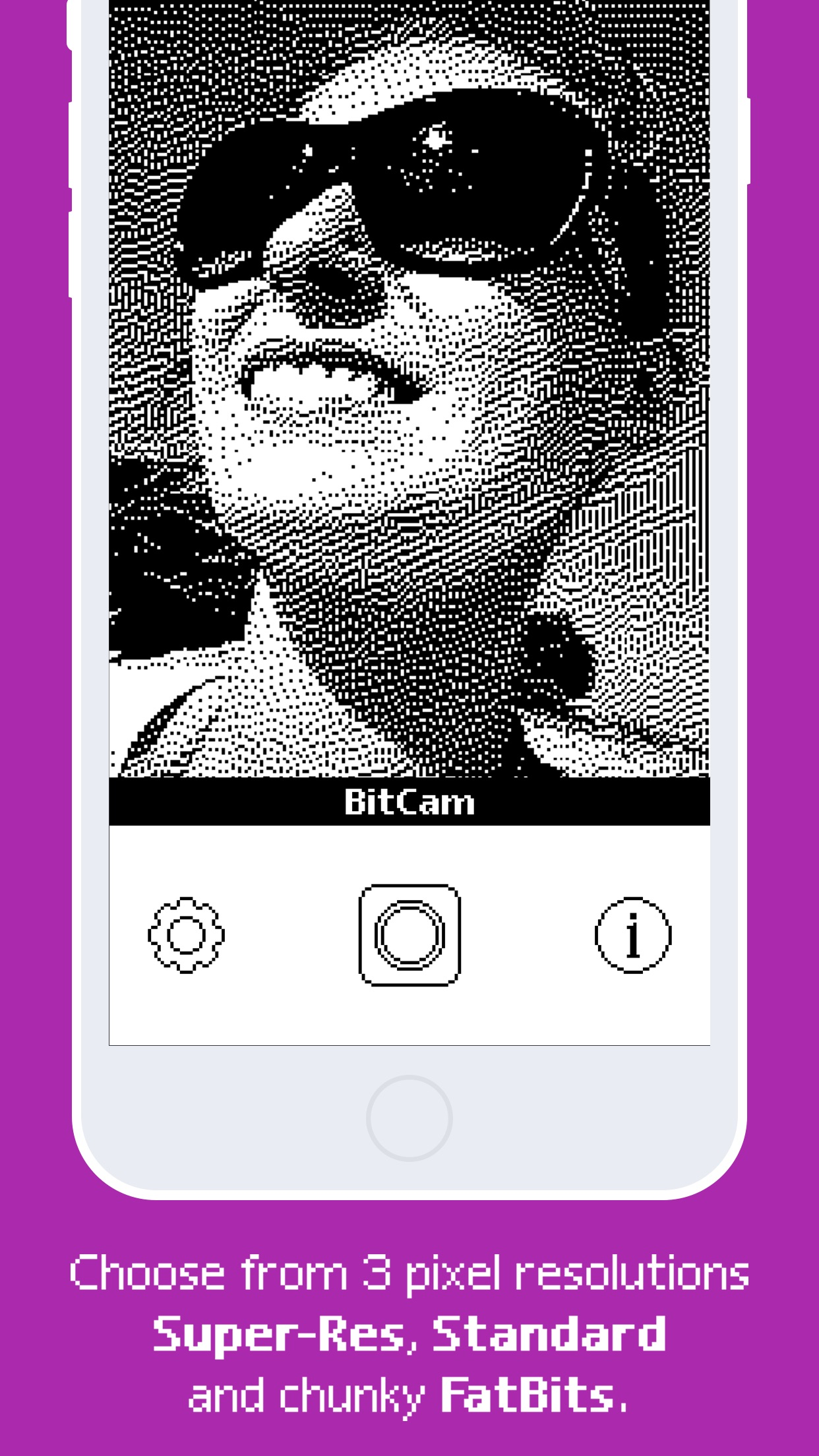 Screenshot do app BitCam