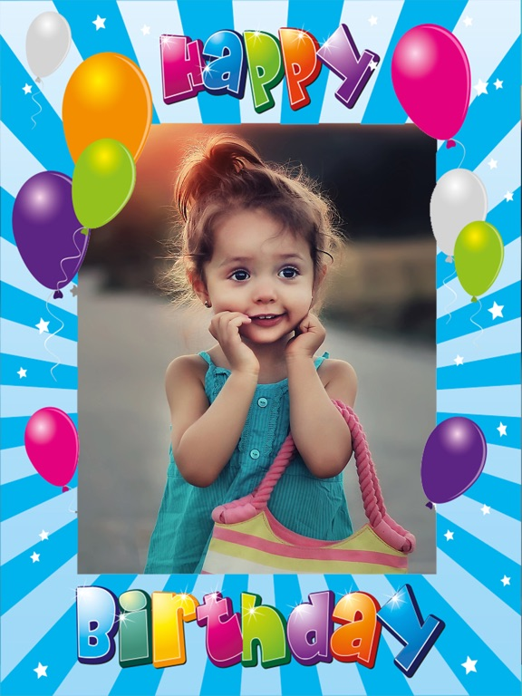 Screenshot 2 For Happy Birthday Photo Frames Create Greeting Cards Collages And