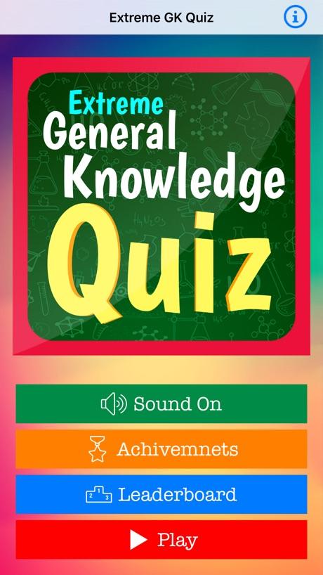 Extreme General Knowledge Quiz