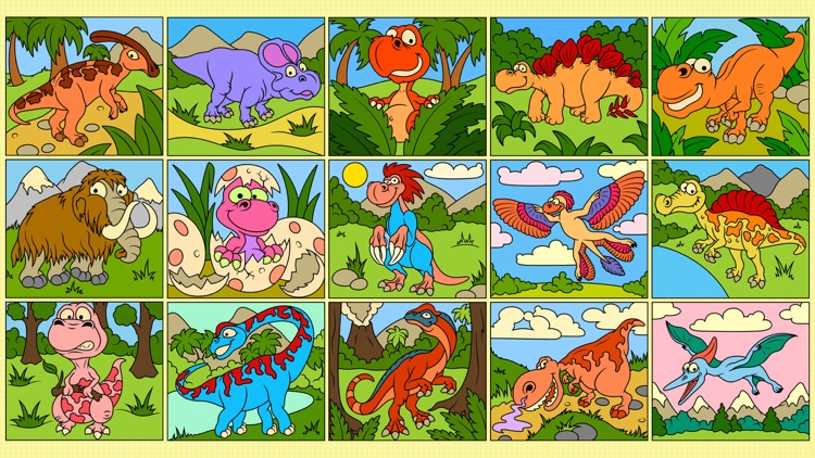 Dinosaurs - Color by Numbers