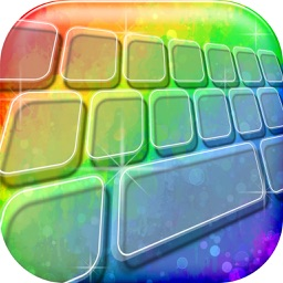 Rainbow Keyboard! - Custom Color Keyboard Themes 2016 with Fancy Backgrounds and Fonts Changer