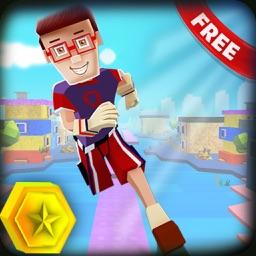 Pixel Run Blocky 3D. Endless Running on Block War Roads Challenge