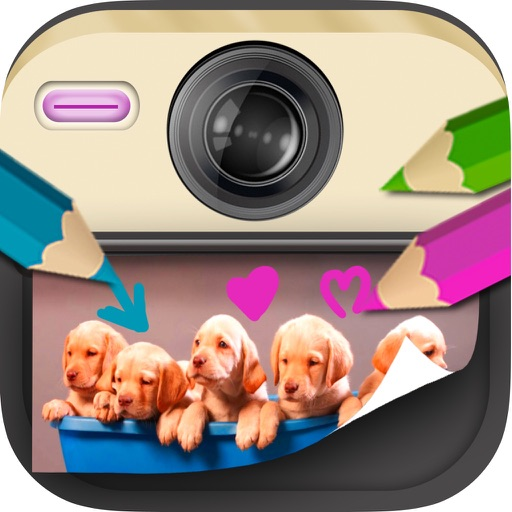 Photo paint for kids: drawing, Scribble, write messages and create notes on photos or images iOS App