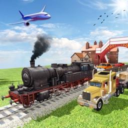 City Car Transporter Train & Truck Driver Simulator Game