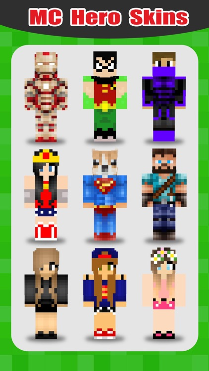 SuperHero Skins Pro - Export Skin for MineCraft Pocket Edition