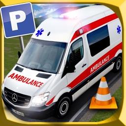 Ambulance Emergency Parking Driving Test 2016 - City Hospital Paramedic Emergency Vehicle 3D Simulator