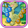 Kids Dinosaur Join and Connect the Dots Puzzles - Rex teaches the ABC numbers and counting