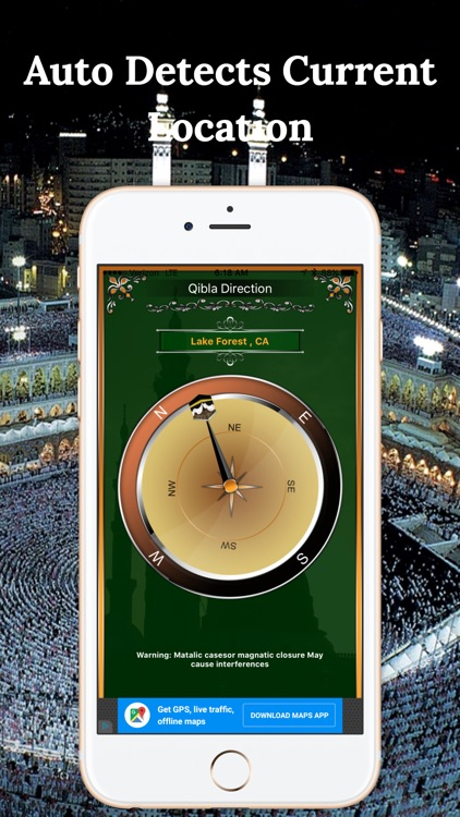 Simple Qibla Compass-Free screenshot-0