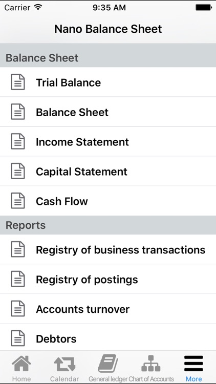 Nano Balance Sheet screenshot-2