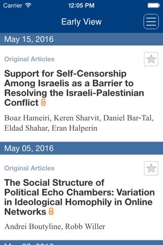 Screenshot of Political Psychology