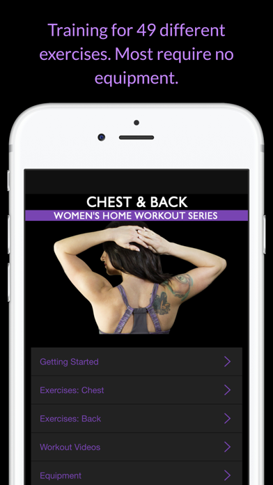 Chest & Back: Women's Home Workout Series screenshot two