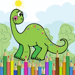 Dino Dinosaur Coloring Book - Cute Drawings Pages And Painting Games for Kids