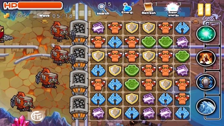 Zombie Defeat vs Mine Gem Defense screenshot-3