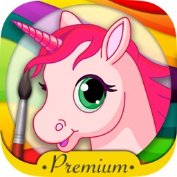 Unicorn coloring book for kids -paint & color fantastic animals - Premium