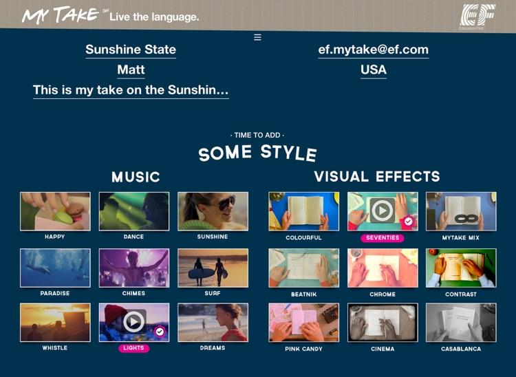 EF MyTake Video Editor for iPad screenshot-4