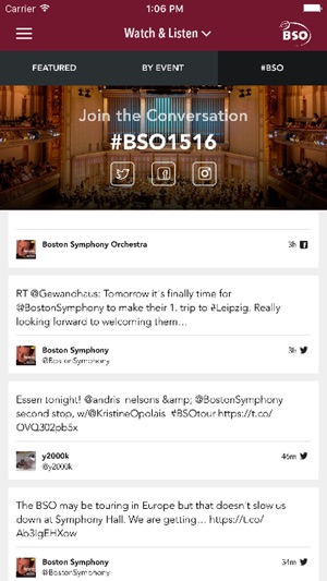 Boston Symphony Orchestra on the App Store