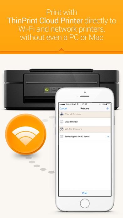 ThinPrint Cloud Printer Print directly via WiFi / WLAN or via cloud