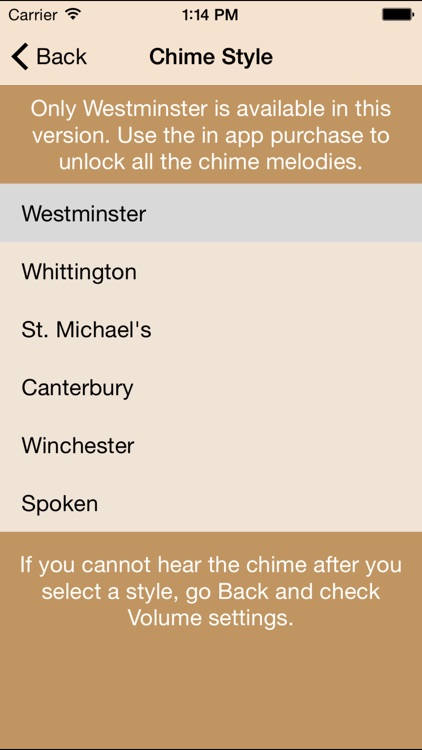 Westminster Chimes Lite
