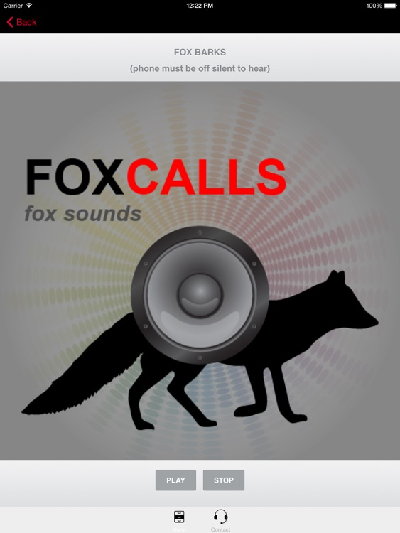 REAL Fox Sounds and Fox Calls for Fox Hunting - (ad free) BLUETOOTH COMPATIBLE screenshot-0