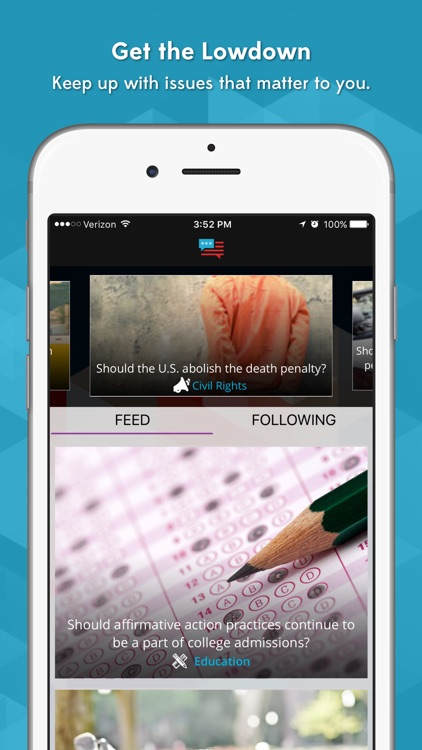 HearMyVoice-Mobile democracy for the civic minded.