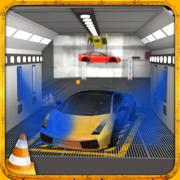 多级跑车停车模拟器2:车漆车库与真实驾驶游戏